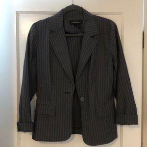 Club Monaco Striped Cuffed Blazer